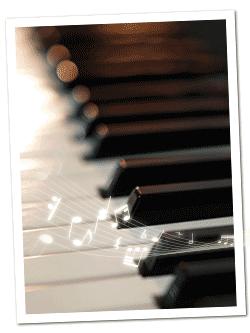 ピアノと音符
