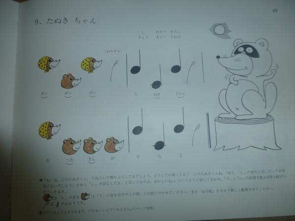ピアノレッスン 楽譜