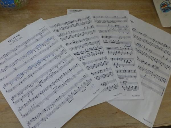 ピアノ「ありのままで」楽譜