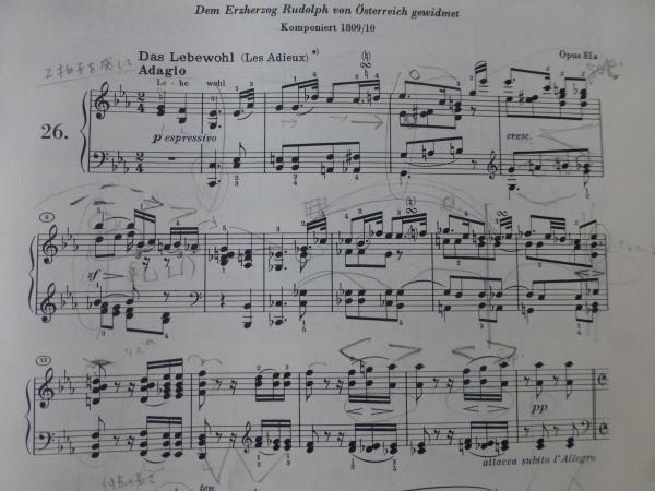 ヴェートーヴェン ピアノソナタ