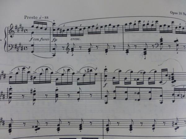 ショパン ピアノエチュード